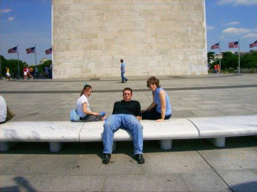 Kids and me at Washington Monument
