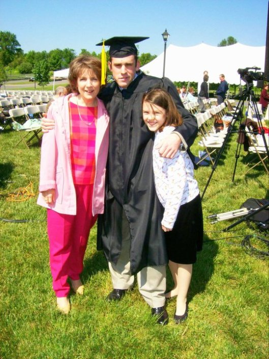 J's college graduation with E and me