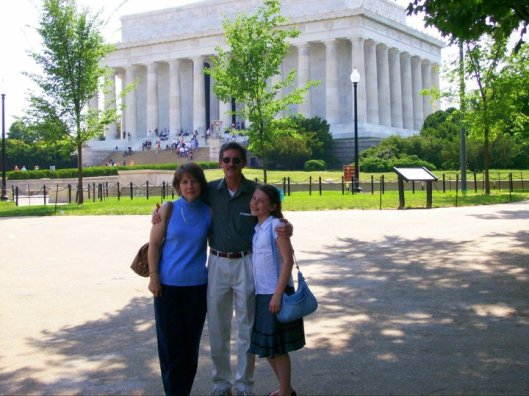 Ron and me and E in D.C.