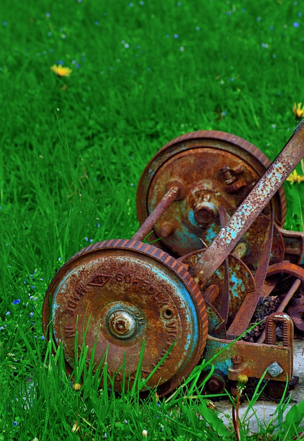 rusty-lawnmower-351354_640